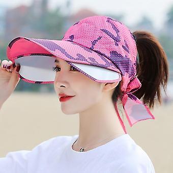 Nyári nők színültig kiszélesítése üres felső vizor sport stílusú női napernyő sapkák