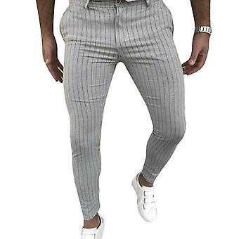 Men Korean Multi-color Plaid Casual Pants Streetwear