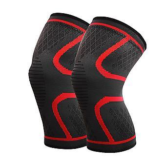 L Koko Punainen Pituus 27cm Nailon Latex Spandex Professional Sports Grade polvisuojat