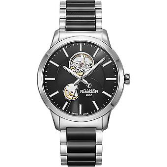 Roamer 672661 41 55 60 Two Tone C-Line Automatic Black Dial Wristwatch