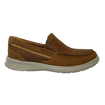 Clarks Cotrell Easy Brown Tan Leather Slip On Mens Loafer Shoes 261453008