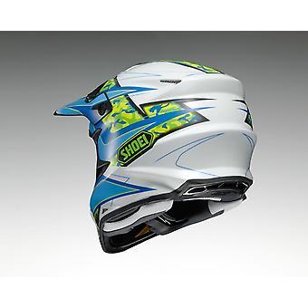 Shoei VFX W Turmoil TC2 XL Off Road Motocross & CASQUE VTT Bleu