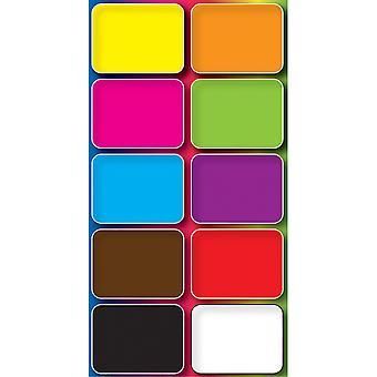 Nicht-magnetische Mini Whiteboard-Richter, verschiedene Farben, Packung mit 10