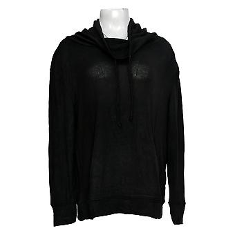 Anybody Women's Top Long Sleeve Cowl Neck Pullover Black A310152