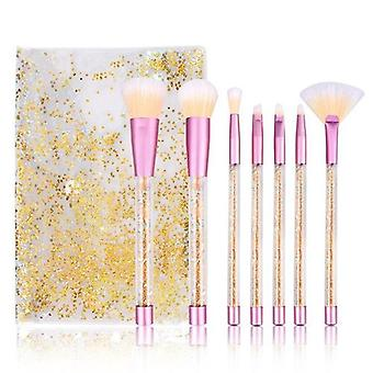 Luxury Sequin Makeup Brushes Set For Foundation