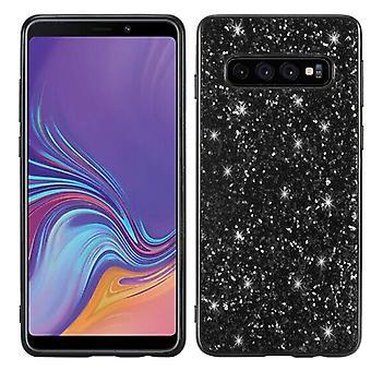 Samsung Galaxy S10 Lite kiiltävä kova kuorikotelo - musta