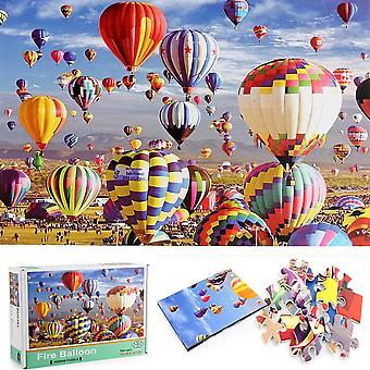 CHAOCHI Jigsaw Puzzles for Adults 1000 Piece,Romantic Hot air balloon Puzzle