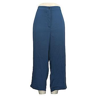 Linea by Louis Dell'Olio Women's Petite Pants Zip-Front Crop Blue A349648