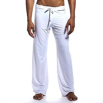 High-end Men Cotton Sleep Bottoms Nighty Trousers Casual Loosen Plaid Pajama