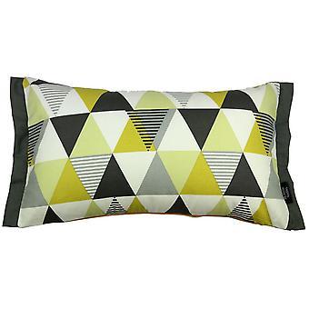 Vita cotton print ochre yellow pillow