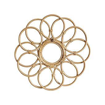 Nordic Style Crafts Rattan Mirror Flower Frame