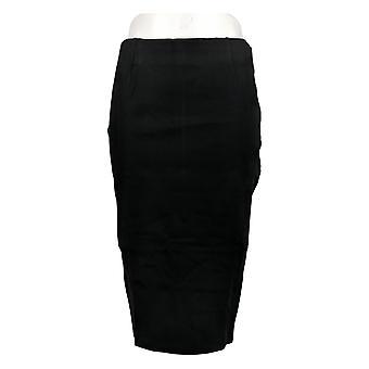 BROOKE SHIELDS Skirt Timeless Ponte Knit Pull-On Pencil Skirt Black A306637