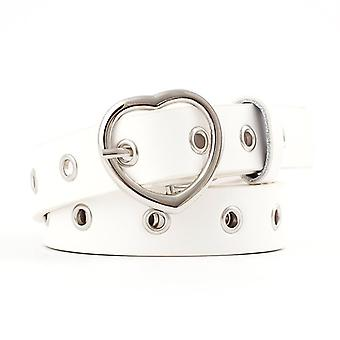 Sweetheart Buckle With Adjustable Cute Heart-shaped Thin Belt Punk