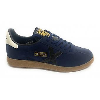 Shoes Munich Sneaker Barrufet Suede Color Dark Blue Man U20mu03