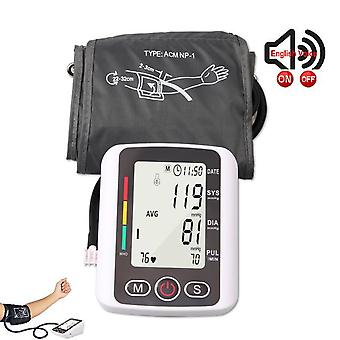 Automatic digital upper arm blood pressure monitor lcd & cuff medical measuring bp & pulse rate blood pressure monitors for home