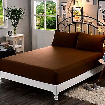 Polyester Super Soft Solid Fitted Sheet Set, Mattress Cover, Pillowcases, Four