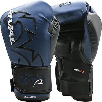 Rival Boxeo RB11 Evolution Hook and Loop Bag Guantes - Azul Marino / Negro