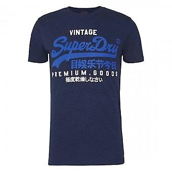 Superdry VL NS Logo T-Shirt Midnight Blue Grit 4AY