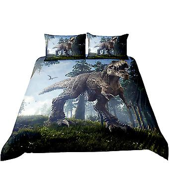 Quilt cover, good sleep quilt cover, with pillowcase, dinosaur pattern, soft high-end bedding, suitable for single