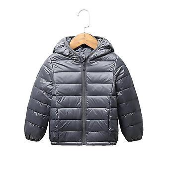 Giacca invernale per bambini, cappotto outerwear con cappuccio ultra leggero