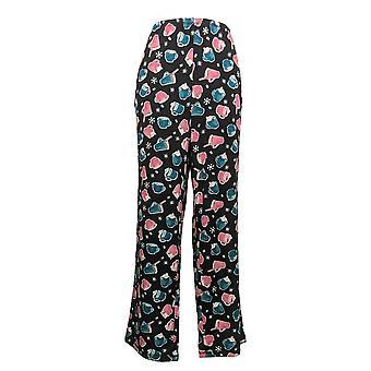 Carole Hochman Women's Marshmallow Jersey Novelty Pajama Set Black A381876