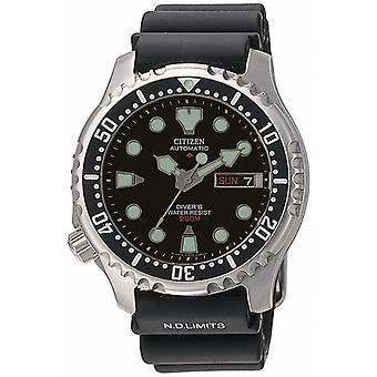 Montre Homme  CITIZEN MONTRES  NY0040-09EE - Bracelet Silicone Noir