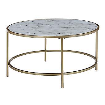 Table basse ronde de marbre de faux de gold coast