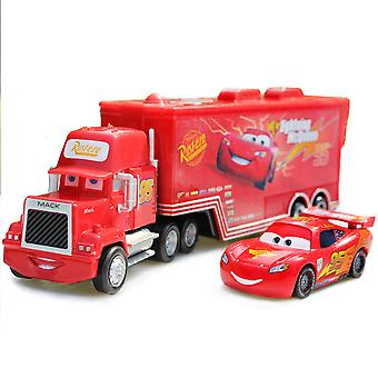 Cars Cargo Truck 95 Mack Lighting Mcqueen Racing Car Diecast Alloy Cars Model Toy Children's Gift