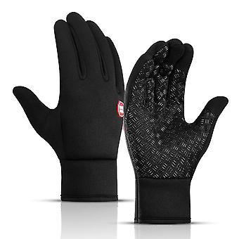 Men/women Anti-slip Cycling Riding Winter Fleece Warm Sports Gloves