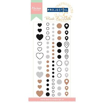 Marianne Design - Faux Enamel Stickers - Black and White