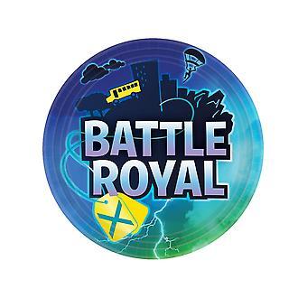 8 Assiettes en carton battle royale 23 cm