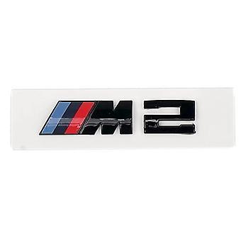 Gloss Black BMW M2 Rear Badge Emblem M Performance Sticker Lid Trunk M Sport