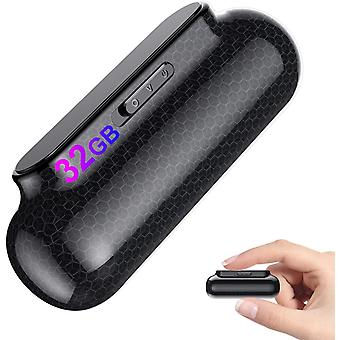 32GB Digital Diktiergert Magnetischer Mini Diktiergert Aufnahmegert mit Stimmenaktivierung -3200mAh