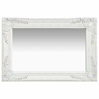 vidaXL miroir mural de style baroque 60 x 40 cm blanc