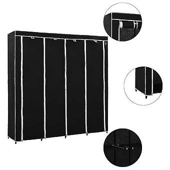 vidaXL wardrobe with 4 compartments Black 175 x 45 x 170 cm