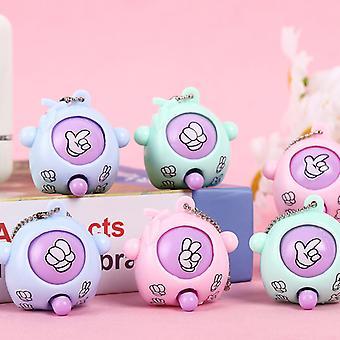 6 Pcs/lot Mini Finger-guessing Game Rock Paper Scissors Play Toy