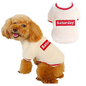 Dog cat clothes spring autumn winter lambswool round-neck shirt sweater