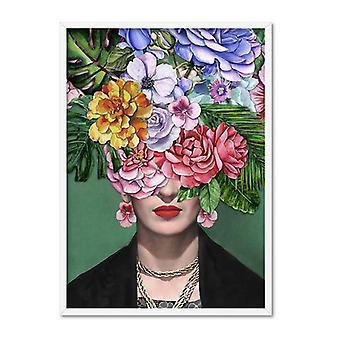 Frida Kahlo Akwarela Flower Bomb Art Print