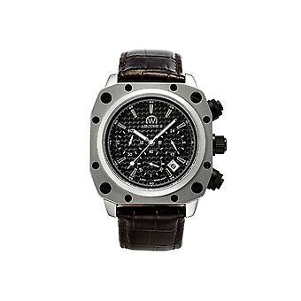 Watch Chronowatch 'apos;Airzone II' apos; Quartz Noir Leather Bracelet - HW5180C1BC2