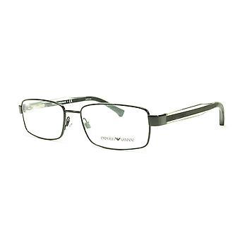 Emporio Armani EA1002 3014 Eyeglasses Frame Acetate Black Transparent Crystal