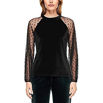 s.Oliver BLACK LABEL 11.912.31.7104 T-Shirt, Black (True Black 9999), 44 (Size Manufacturer: 38) Woman