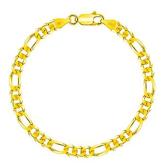 Planetys - 925/1000 silver bracelet plated yellow gold 18 carats, jersey ro (1+3), width: 5 mm and Silver 925/1000, Ref. 3701049591555