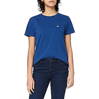 Lee Relaxed Pocket Tee T-Shirt, Washed Blue, L Woman