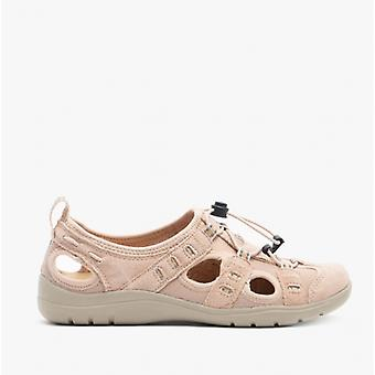 Earth Spirit Winona Ladies Suede Casual Shoes Dusty Pink