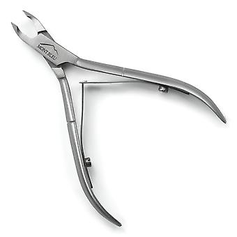 """Mont Bleu Cuticle Nippers, Spring Mechanism, made of Stainless Steel - 3mm / 0.12"""" inches"""