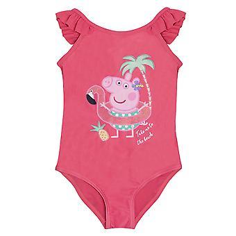 Peppa Pig Girls Flamingo Baddräkt i ett stycke
