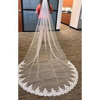 Eine Schicht Spitze Braut Zubehör Schleier mit Kamm