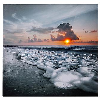 Sunset LED Ocean Canvas