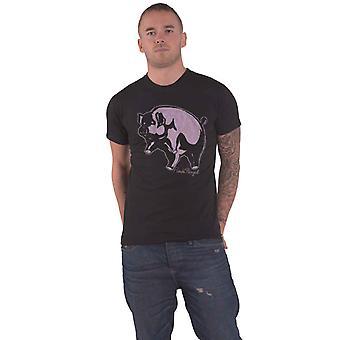 Vaaleanpunainen Floyd T Shirt Animals Pig Band Logo uusi Virallinen Miesten Musta