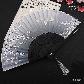 Chinesische Vintage Stil Falten Fan Kunst Handwerk Geschenk Tanz Hand Fan Home Decoration Ornamente(#23)